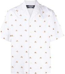 jacquemus la chemise blé embroidered shirt