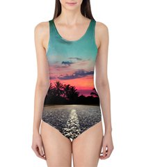 tropical evening women's swimsuit