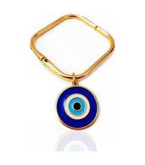 bracelete pulseiraria chic quadrado olho grego azul