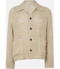 our legacy men's coach shirt - beige sack shirt - xl