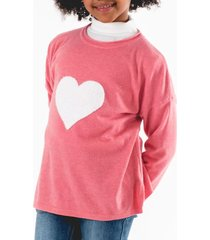 sweater heart casual rosa going merry