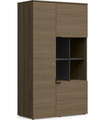 armário alto 3 portas carvalho munique móveis kappesberg