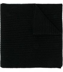 n.peal short ribbed scarf - black