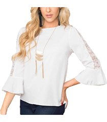 blusa angel blanco  para mujer croydon