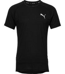 evostripe tee t-shirts short-sleeved svart puma