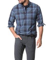 men's rodd & gunn regular fit plaid button-up shirt, size xxx-large - blue