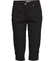 capri pants byxa med raka ben svart brandtex