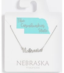 maurices womens dainty nebraska necklace gray