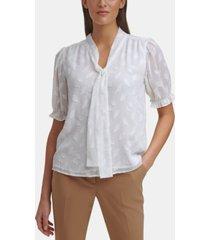 calvin klein tie-neck blouse, regular & petite sizes