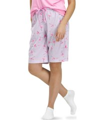 hue flamingo flight bermuda pajama shorts