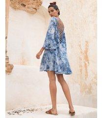 sukienka roma tie dye blue