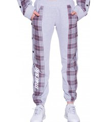 spodnie dresowe in check print