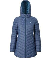 abrigo mujer agami stripe azul doite