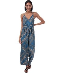 only diana scarf print jumpsuit size 6 in blue