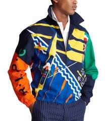 polo ralph lauren men's bayport printed poplin sport jacket