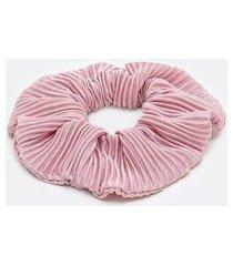 scrunchie com efeito plissado | accessories | rosa | u