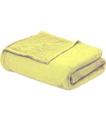 cobertor beb㊠90cm x 1,10m amarelo - multicolorido - dafiti