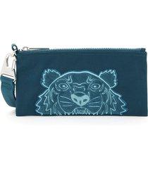 kenzo pouch wallet velvet tiger