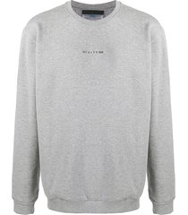 1017 alyx 9sm logo-print sweatshirt - grey