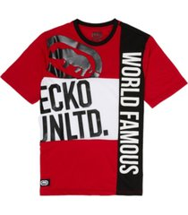 ecko unltd men's ecko patchwork short sleeve knit t-shirt