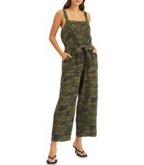 sanctuary breezy cotton camo-print jumpsuit