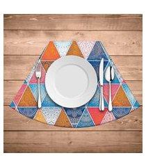jogo americano para mesa redonda wevans abstract mandalas kit com 4 pçs