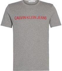 institutional logo  slim t-shirt gris calvin klein