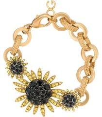 dolce & gabbana bracelete com aplicações - dourado
