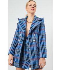 abrigo diana casual urbano azul kimonada