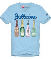 bollicine printed light blue t-shirt