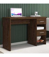 mesa escrivaninha 2 gavetas duna new rustic - móveis germai