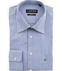 ledub overhemd modern fit kobaltblauw