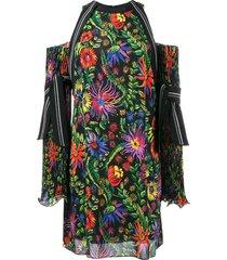 3.1 phillip lim floral print off-shoulder dress - black