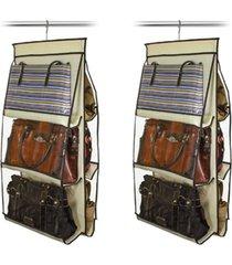 organizador de bolsas vb home para cabide marfim 2 peças