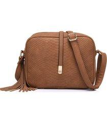 bolso mujer pequeño rectangular retro cuero pu b695 café
