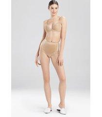 natori feathers essential control top briefs bodysuit, women's, beige, size l/xl natori