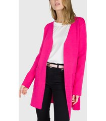 cardigan io liso fucsia  - calce regular