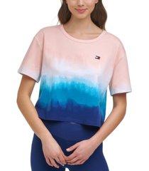 tommy hilfiger sport cutout-back ombre t-shirt