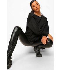 geplooide sweater, black