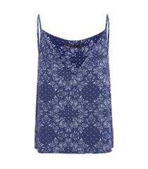 regata feminina fresh bandana - azul