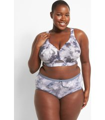 lane bryant women's no-show full brief panty 30/32 hazy grisaille