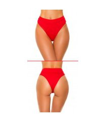 mix it!!! sexy bikini slip hoge taille rood