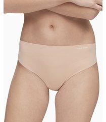 calvin klein women's invisibles high-waist thong underwear qd3864