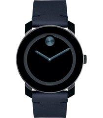 reloj  movado 3600601 negro acero hombre