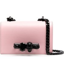 alexander mcqueen four ring shoulder bag - pink