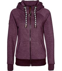 women's chic long sleeve solid color pocket hooded hoodie