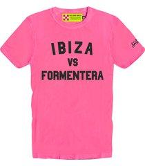 ibiza vs formentera pink fluo mans t-shirt