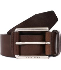 boss jily leather belt - medium brown 50402913