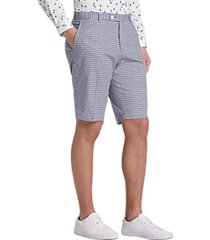 paisley & gray slim fit suit separates shorts navy gingham