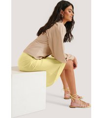 na-kd shoes sandal - yellow